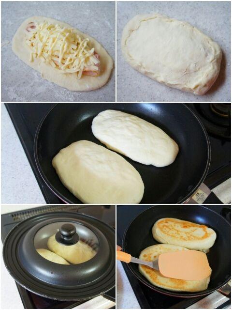 [捏ねない!発酵20分!]フライパンでとろ~りチーズとベーコンのパニーニ|珍獣ママ オフィシャルブログ「珍獣ママのごはん。」Powered by Ameba