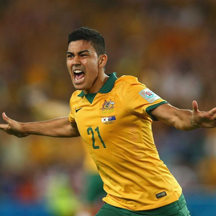 Luongo celebrates goal in Asian Cup final - Massimo Luongo of Australia celebrates after scoring during the 2015 Asian Cup final match against South Korea at Stadium Australia on January 31, 2015 in Sydney.