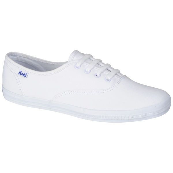 Keds Women's Champion Oxford Pumps ($23) ❤ liked on Polyvore featuring shoes, sneakers, flats, white, flat shoes, oxford shoes, oxford flat shoes, white flats and white shoes