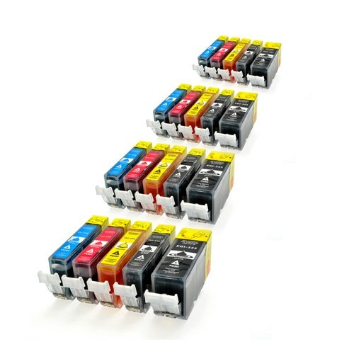 #Bürobedarf: 20 Patronen MIT CHIP kompatibel zu PGI-525BK , CLI-526C , CLI-526M , CLI-526Y und CLI-526BK: Kaufen Neu: EUR 19,90 (Zu Kaufen ab EUR 26,90)[Germany]