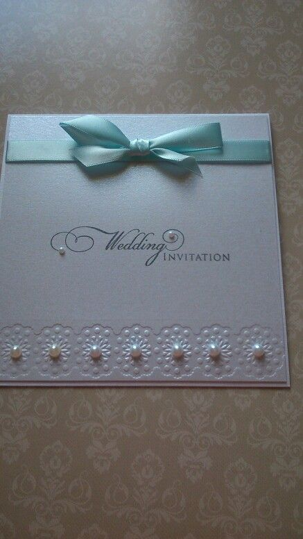Simple wedding invitation made using hint of silver centura pearl cardstock