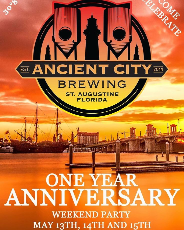 Save the date! This is going to be insane! Check out the event page on Facebook to see everything that is going on during this weekend.  #AncientCityBrewing #StAugBeer #StAugCraftBeer #FlBeer #StAugustine #StAugustineBeer #DrinkLocal #drinkjax #igersjax #904staugustine #staugustinebuzz #ACB1year by ancient.city.brewing