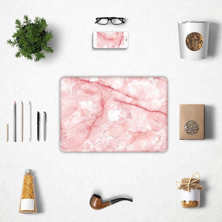 "Pink marble macbook decal macbook skin mac sticker forMacbook Air 11, Macbook Air 13 & Mac Pro 13 Retina, Macbook 12"", Macbook Pro 15 Retina by idecalCrafts on Etsy"