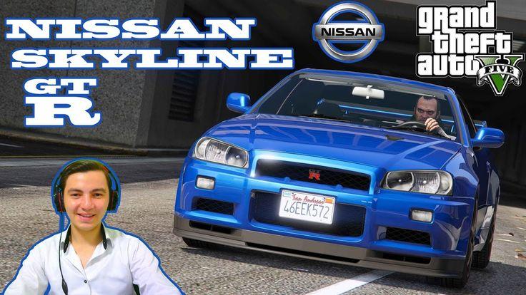 GTA 5 NISSAN SKYLINE GTR MODU !!! EFSANE