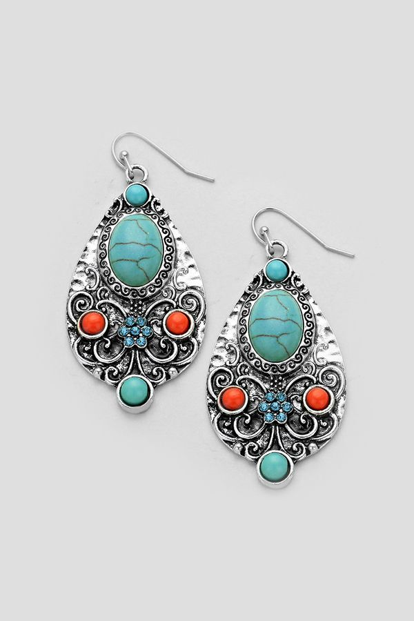 Turquoise and Silver Boho