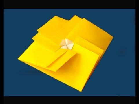 Origami square envelope. Easy and rich. Claudine's Tato. Ideas for gift ...