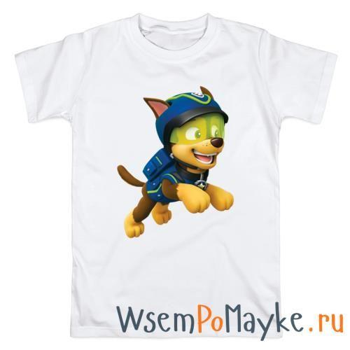 Мужская футболка Щенячий патруль Чейз купить в интернет магазине WsemPoMayke.Ru http://wsempomayke.ru/product/manshort/1074781  Доставка по России курьером или почтой, оплата при получении. Посмотреть размеры и цену > http://wsempomayke.ru/product/manshort/1074781