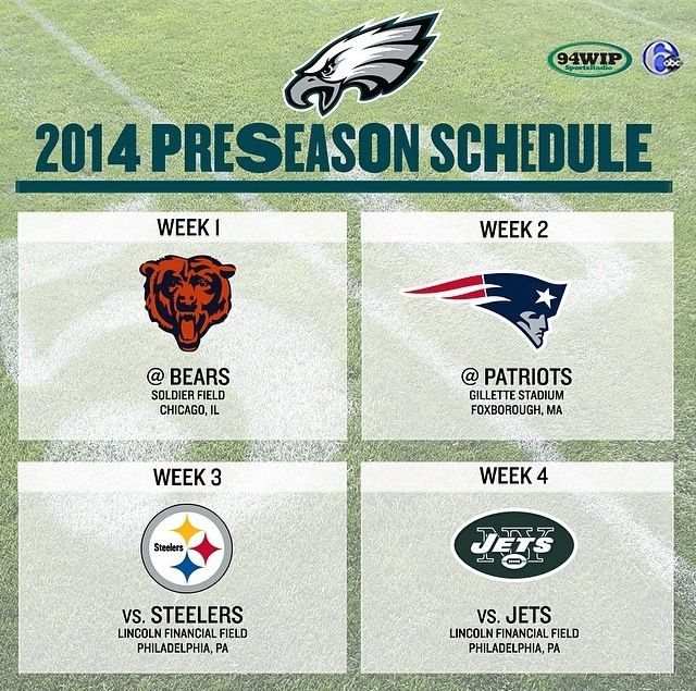 2014 Preseason Schedule: #Eagles football is right around the corner. #FlyEaglesFly
