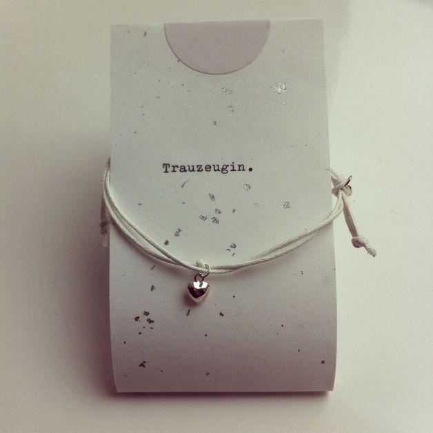 Silberarmbänder - 925 Silber ♥ Herz Armband, Trauzeugin. - ein Designerstück von LaContessaFrankfurt bei DaWanda