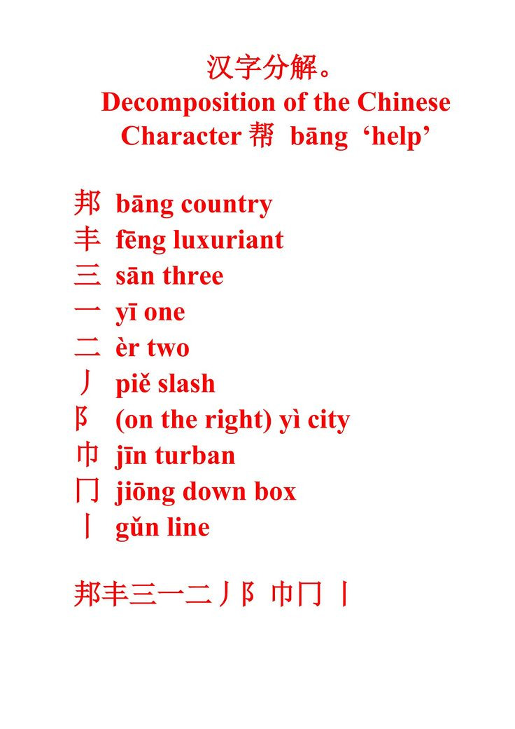 how to write chinese detail study