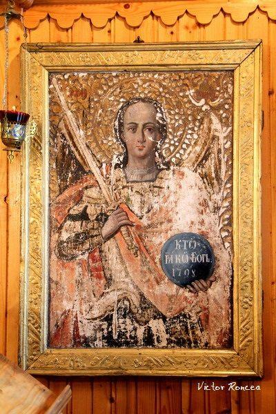 Sf. Arhanghel Mihail - Icoana de la 1798 din Biserica din Vidra in care s-a botezat Craisorul Muntilor Avram Iancu la 1824