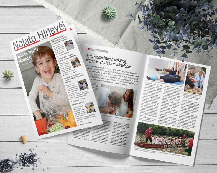 A Nolato belső kommunikációjához tartozó újság. #nolato, #infoartnet, #design, #mockup