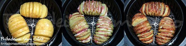 Batata Frita Recheada na AirFryer (Batatas Hasselback) - Fritadeira sem Óleo - AirFryer