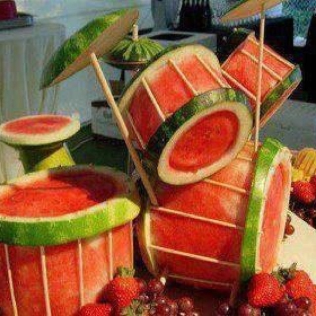 Watermelon drumset haha