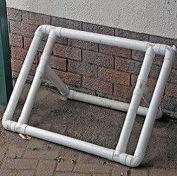 PVC bike rack and ball rack