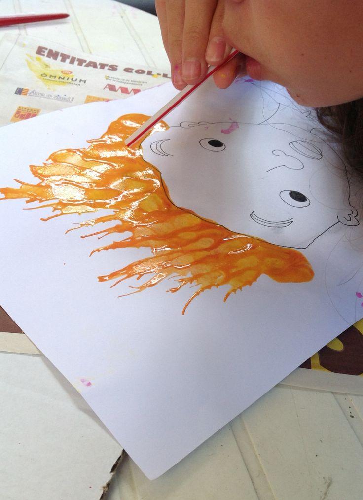 Pintura bufada amb canyeta