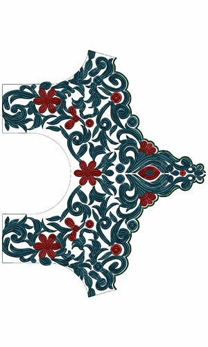 9662 Blouse Embroidery Design
