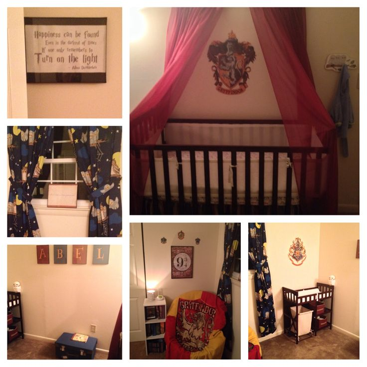 My most current picture of my attempt at a Harry Potter nursery.