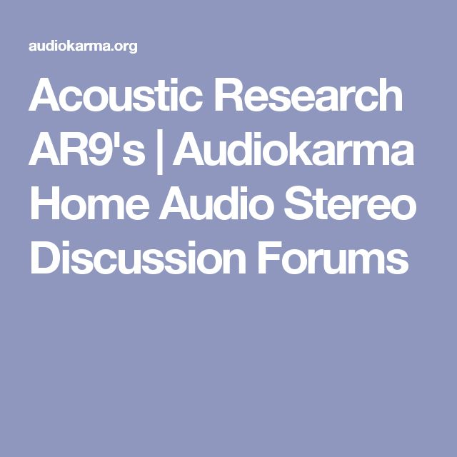 Acoustic Research AR9's | Audiokarma Home Audio Stereo Discussion Forums