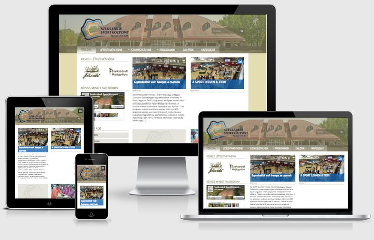 Szekszárdi Sportközpont (2015, webdesign, sitebuilding, responsive, WordPress dev)