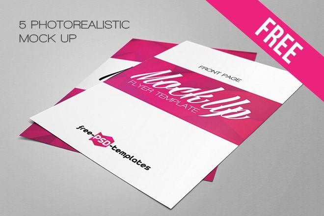 Download Free Flyer Mockup Templates Yellowimages Mockups
