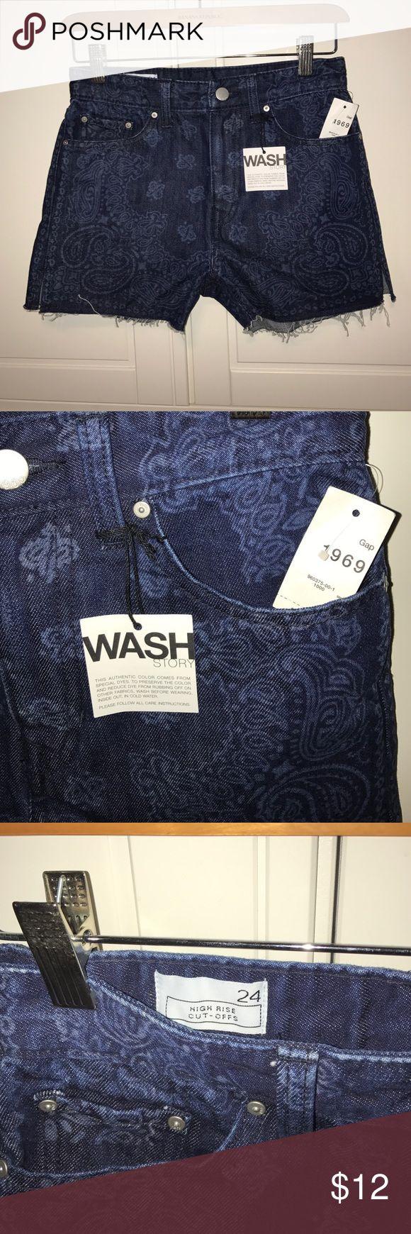 Girls Gap Jean Shorts HighRise CutOffs Size 24 Girls Gap Jean Shorts HighRise CutOffs Size 24 with tags GAP Shorts Jean Shorts
