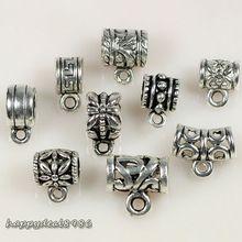 45 pcs/lot тибетское серебро тон смешанный чаша разъемы Bails ювелирные изделия выводы для своими руками ювелирные изделия делает, 9 стили смешанный(China (Mainland))