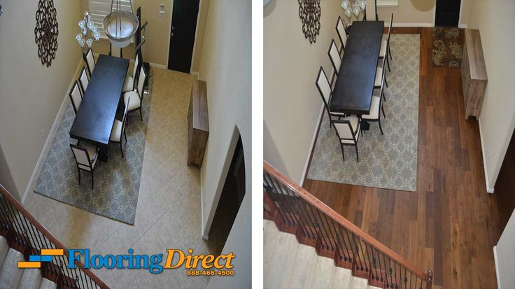 Before and after week continues at Flooring Direct with this photo showing a dining room being transformed with the installation of hardwood flooring. See more pics of this project at our website or begin your own home transformation by vising our site or calling 888-466-4500 to arrange a Shop-at-Home appointment. http://flooringdirecttexas.com/before-and-after-hardwood-flooring-installation-pictures/ #flooring #Dallas #DFW #BeforeAfter #HardwoodFlooring…