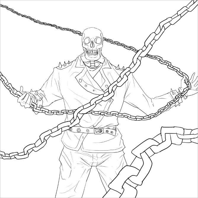 ghost Rider Coloring Pages Coloring Pages   Ghost rider ...