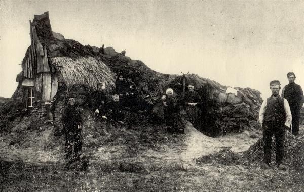 plaggenhut of wâldhúske in het friese Zwaagwesteinde