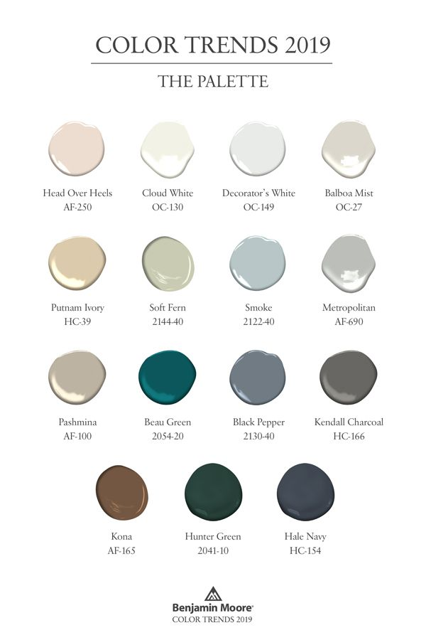 Benjamin Moore Color Trends 2019 A Collection Of 15 Paint Colors That Can All Work Together The Offers For Walls Trim Ceilings