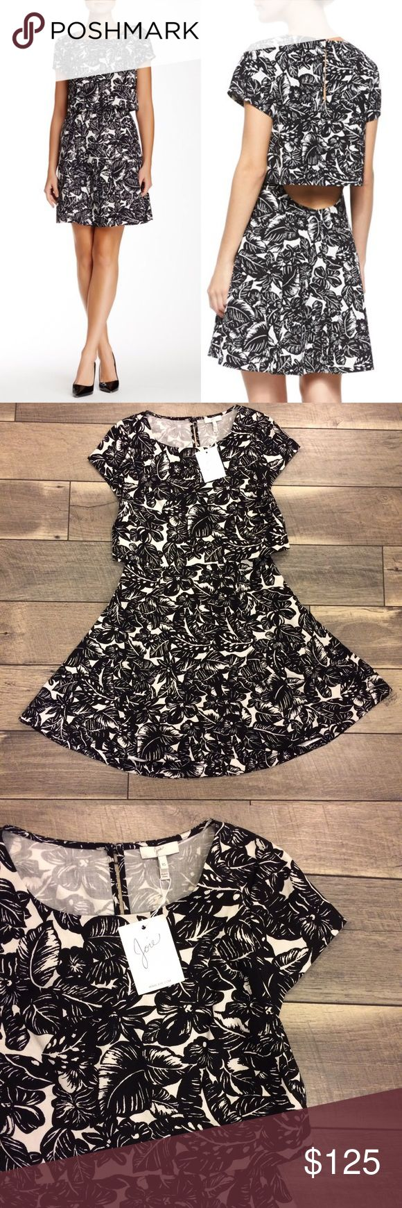 NWT Joie Eley Floral Dress Adorable and amazing quality! New with tags. Adorable back cut out detail. Super cute with a cardigan and booties! Joie Dresses