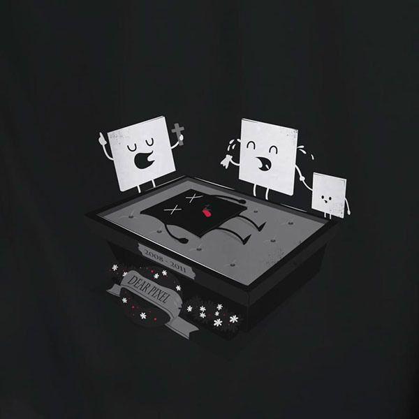 Brilliant Teeshirt Illustrations by Laurent Batel