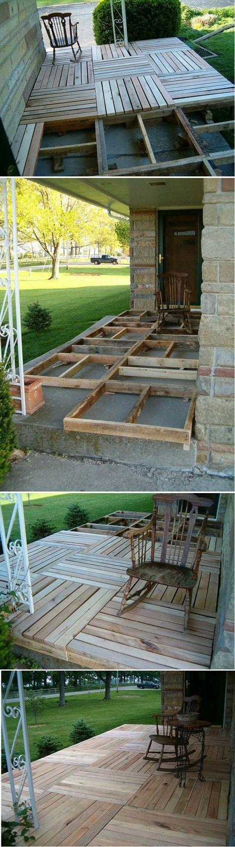 DIY Pallet Wood back Porch