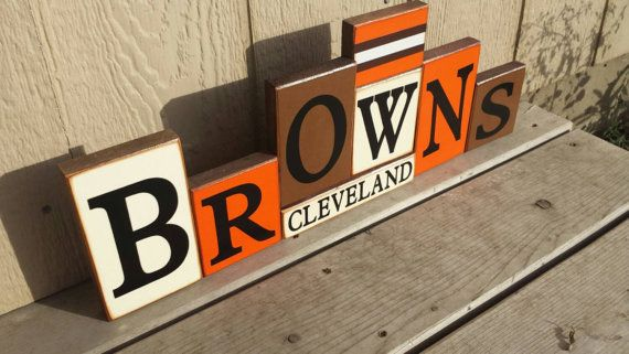 Cleveland Browns Blocks by BountifulCrafts on Etsy
