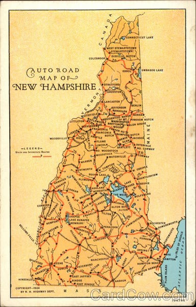 road map of new hampshire