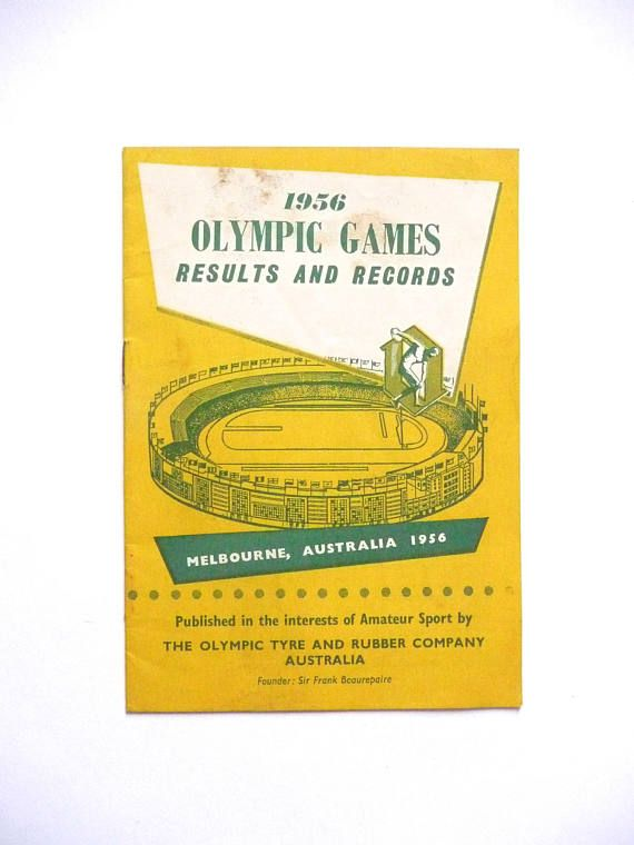 Vintage Olympic Games Book 1956 Olympic Games Results and