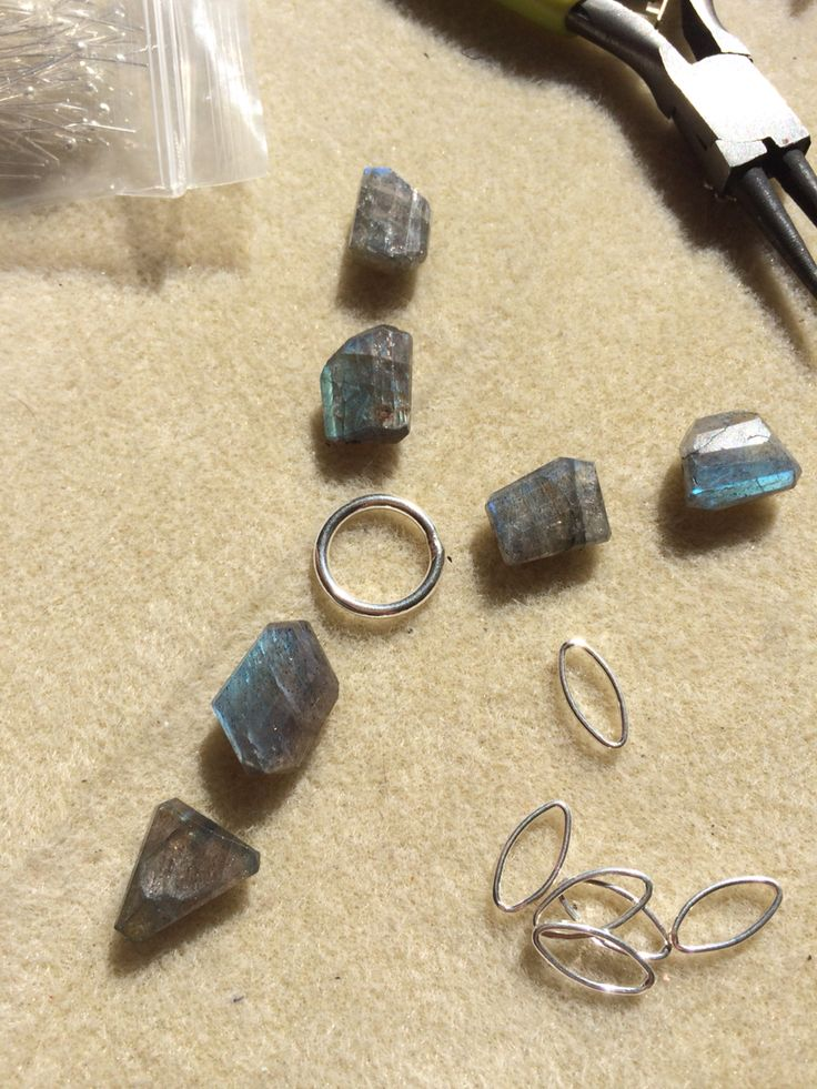 Laying out some labradorite pieces for a new necklace design #design #unique #create #make #GGJewellery