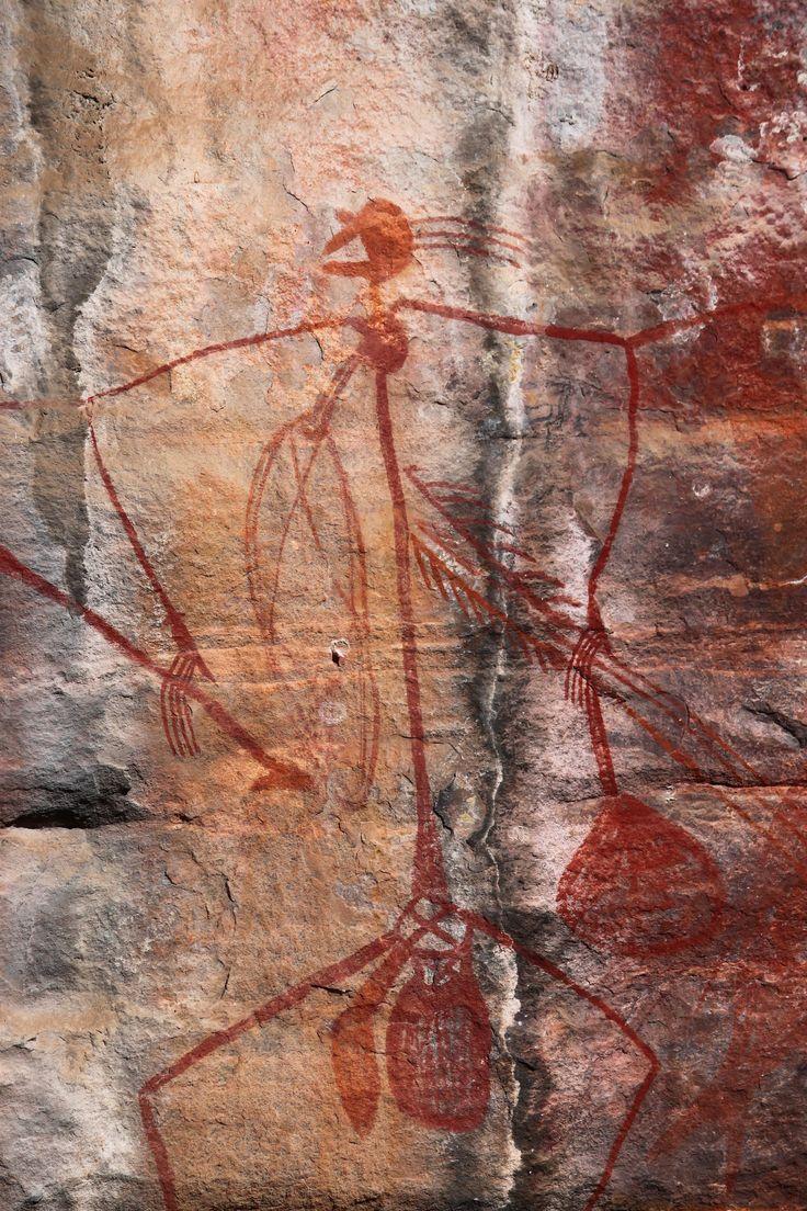 Aboriginal rock art at Ubirr Art Site, #Kakadu National Park, Northern Territory, #Australia.