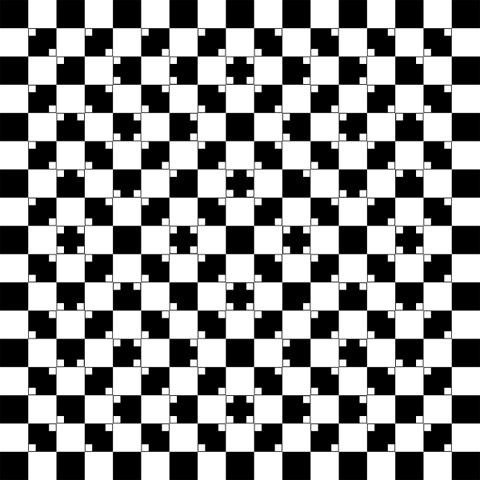 All the lines in this image are straight.