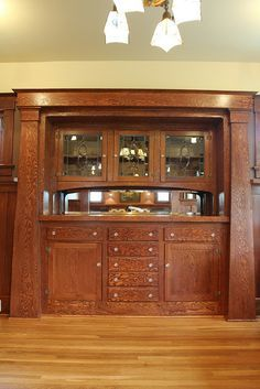 Craftsman Dining Room Built Ins