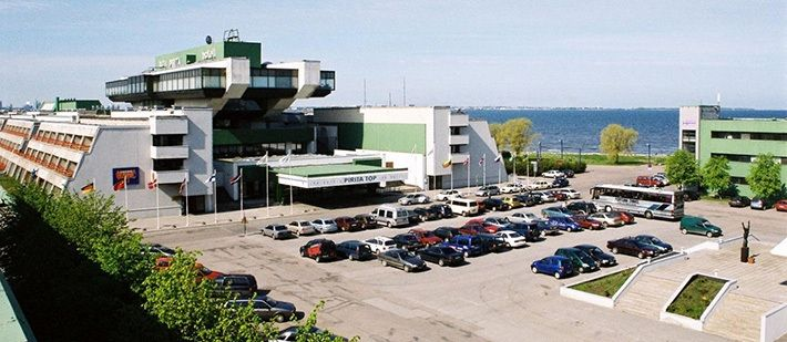 """""""Sport"""" hotel, Tallinn, Estonia.  It was built in 1980 for participants and guests of the Olympic Games (sailing competitions were held in Tallinn)."""