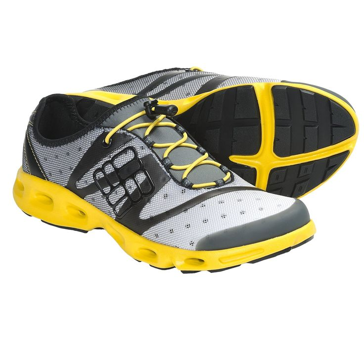 Columbia Sportswear Powerdrain Water Shoes (For Men) in Asphalt/Laser Lemon
