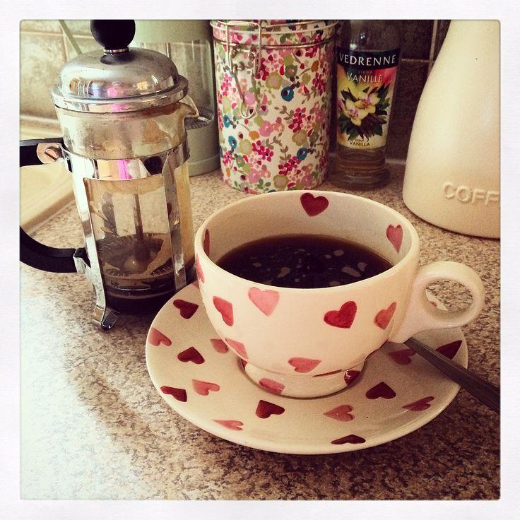 Emma Bridgewater Pink Hearts cup & saucer