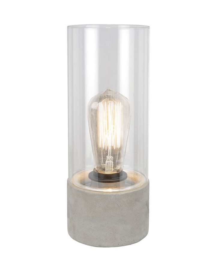 Stoic  1 Light Table Lamp in Concrete/Clear