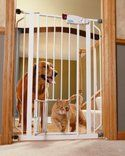 Carlson Extra Tall Pet Gate with Small Pet Door - $37.99  Free Shipping #LavaHot http://www.lavahotdeals.com/us/cheap/carlson-extra-tall-pet-gate-small-pet-door/108608