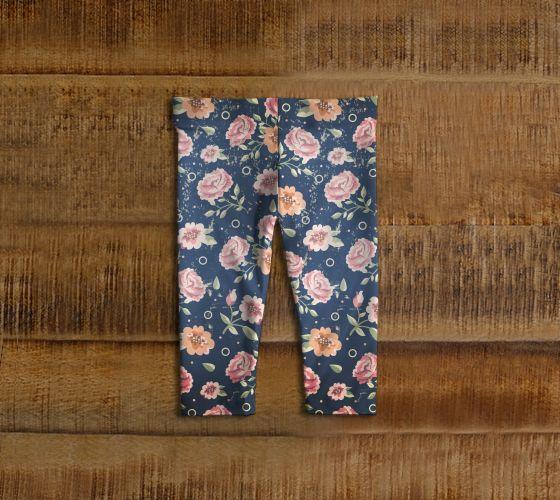 """Baby+leggings+""""Vintage+flowers""""+by+Marosée+Créations"""