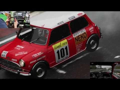 [31] XboxOne Forza 6 Racing Wheel Nürburgring  1965 MINI Cooper S ニュルブルク...