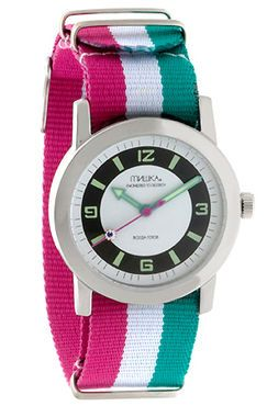 The Standard Issue Stripe Watch in Silver by Mishka - $70