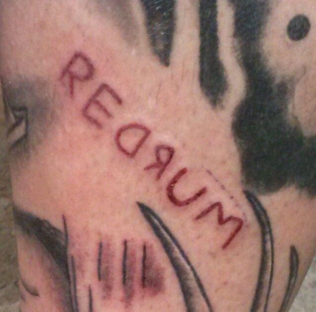 """""""The Shining"""" inspired redrum tattoo"""